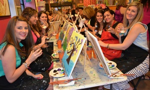 Saratoga Paint and Sip Studio: One or Two Groupons, Each Good for a Painting Class at Saratoga Paint and Sip Studio (47% Off)