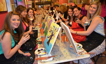 Saratoga paint sip studio in lake george ny groupon for Groupon wine and paint