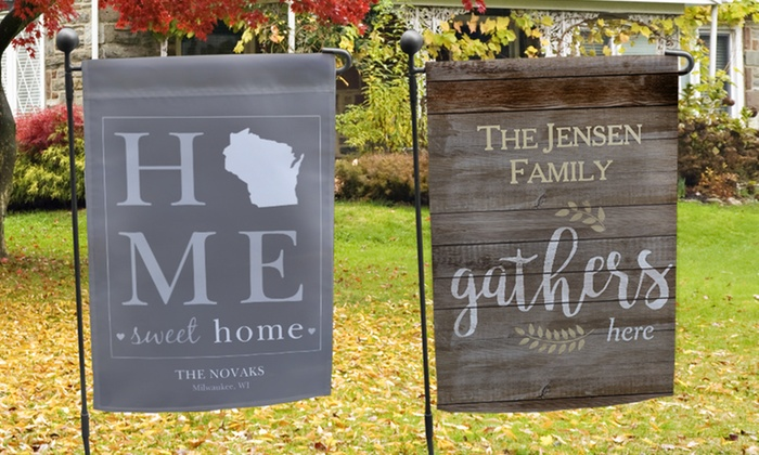 Up To 73 Off Personalized Garden Flags Groupon