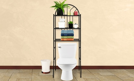 Three-Level Space-Saving Metal Bathroom Shelf. Multiple Colors Available. Free Returns.