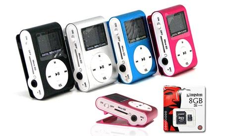 Minireproductor MP3 con display por 8,95 € y con tarjeta MicroSD de 8 GB por 12,90 €