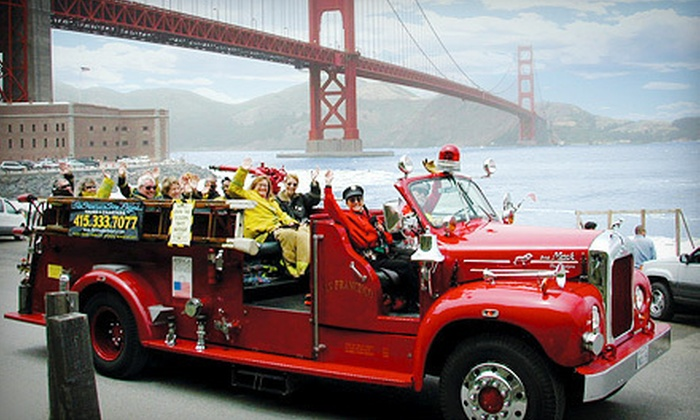 San Francisco Fire Engine Tours & Adventures - San Francisco Fire Engine Tours & Adventures: $39 for Two-Hour Tour of City & Winery on Treasure Island from San Francisco Fire Engine Tours & Adventures ($90 Value)