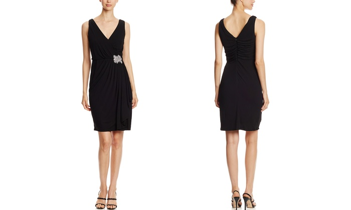 Draped V-Neck Cocktail Dresses by BADGLEY MISCHKA: BADGLEY MISCHKA Cocktail Dress from $69.99 | Brought to You by ideel