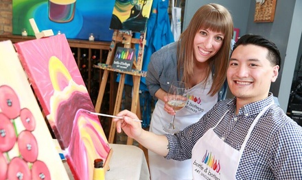 2.5Hour Painting Party for One, Two, or Four at Bottle & Bottega Tampa (Up to 32% Off)