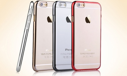 Waloo Premium Ultra-Thin Electroplate Clear Back Cover Case for iPhone 6