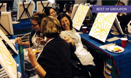 $19.99 for Two-Hour Painting Class for One at Paint and Pour Off-Site Venues ($35 Value)