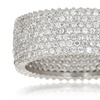 7-Strand Cubic Zirconia Micro-Pavé Eternity Ring in Sterling Silver