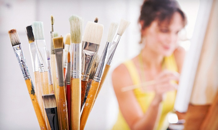 The Miller School of Art - Georgetown: Four-Hour Beginners' Experimental-Painting Class for One, Two, or Four at The Miller School of Art (Up to 62% Off)