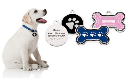 image for Two Custom SmartTag ID tags and Pet-Protection Plan from SmartTag (Up to 67% Off)