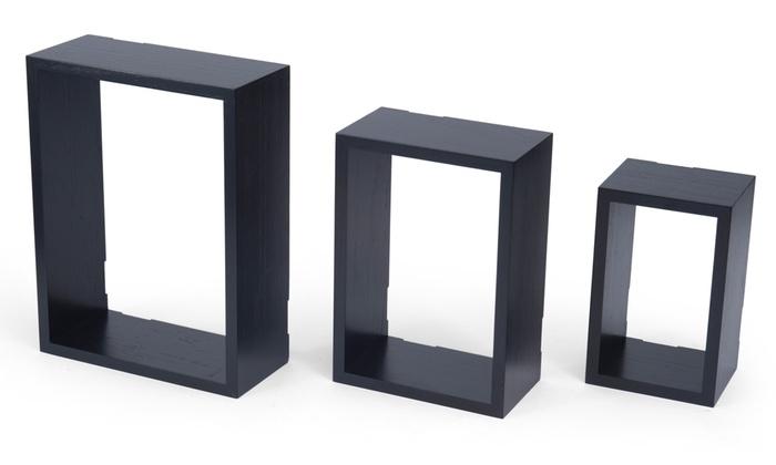 Melannco Wall Cube Set (3-Piece)   Groupon Goods
