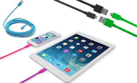 Aduro Apple-Certified Lightning-to-USB 10ft. Sync and Charge Cable in Black, Blue, Green, Pink, or Purple. Free Returns.