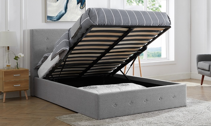 Paris Wool Ottoman Bed with Optional Mattress