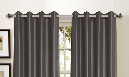 """Wexley Home 36x84"""" Foam-Backed Curtains"""
