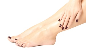 Elayne James Salon and Spa: OneMani-Pedi or Three Manicures at Elayne James Salon and Spa (Up to 51% Off)