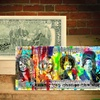 Rock Star Rency Pop Art on Genuine $2 Bill, Hand-Signed and Numbered