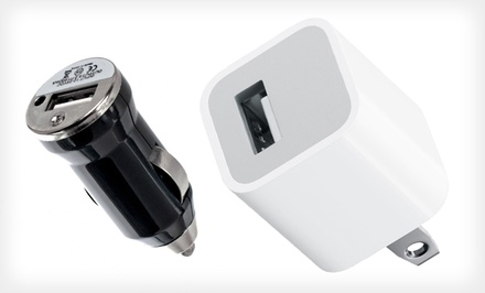 Rapid USB Car and Home Charger in Black or White. Free Returns.