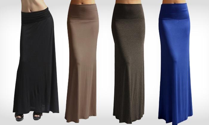 Beroemd Maxi rok in 4 kleuren | Groupon Goods @WD89
