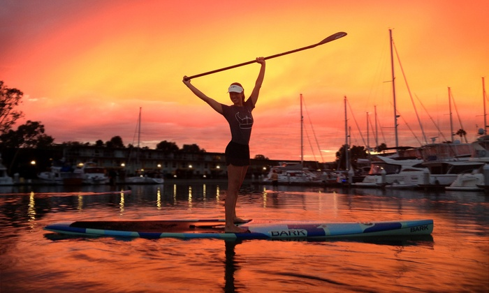 Pro SUP Shop - Marina Del Ray: Two Sunset Crusies or Two Group or Private Standup-Paddleboard Lessons from Pro SUP Shop (50% Off)