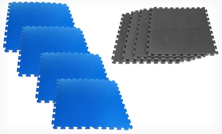 16 Sq. Ft. Ultimate Comfort Foam Flooring Set with 4 Tiles