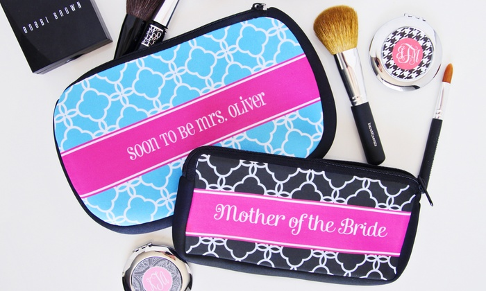 Paper Concierge: Personalized Compacts or Cosmetic Bags from Paper Concierge (Up to 67% Off). Six Options Available.