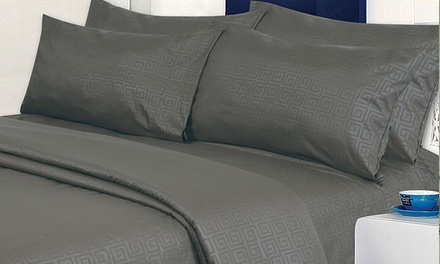 Cozy Home Collection Greek-Key-Embossed Sheet Set