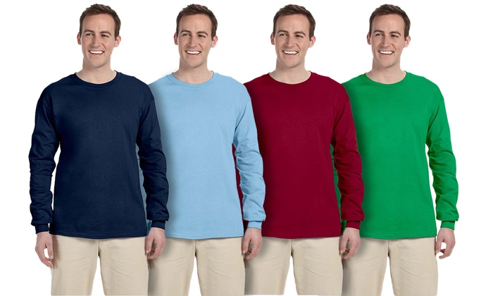 Fruit of the Loom Men's Long-Sleeved T-Shirts (2-Pack)
