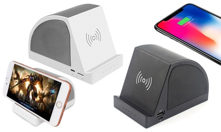 1 o 2 altoparlanti Bluetooth con caricabatterie wireless disponibili in 2 colori