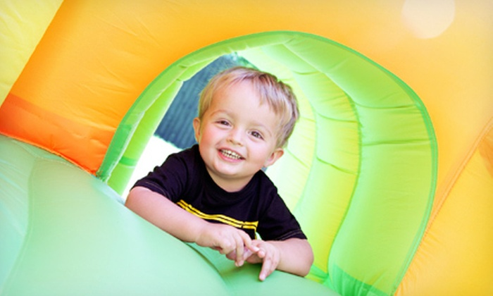 Kidz-Playz - Fisher's Village: Four-Hour Rental of a Small Inflatable Bounce House or a Medium Combo Bounce House from Kidz-Playz (Up to 55% Off)