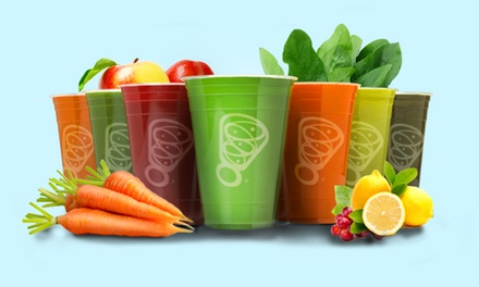Three or Five Groupons, Each Good for $5 Toward Smoothies and Snacks at Juice It Up! (Up to 40% Off).