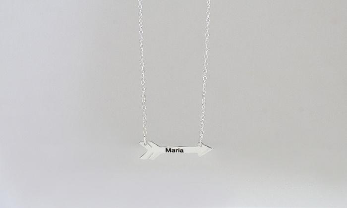 MonogramHub.com : $5 for a Cupid's Arrow Necklace Monogramhub.com ($47.99 Value)