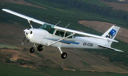 חוויה שמימית עם ביהס לטיסה מונאייר: טייס ליום אחד ליחיד ב 465 ₪ או לשני אנשים ב 915 ₪ בלבד! הטסה עצמית מעל נוף מרהיב