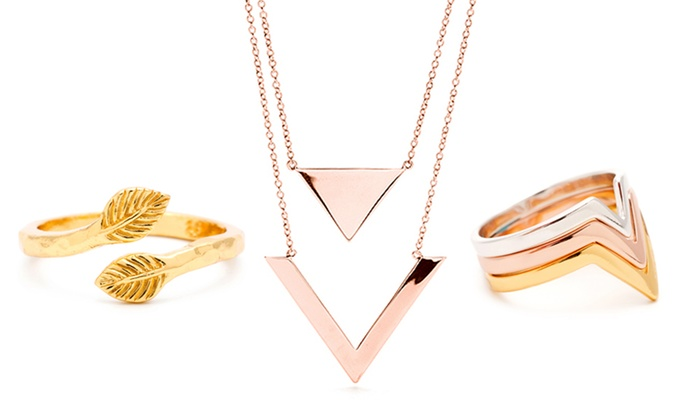 Gorjana Earrings, Necklaces, and Rings: Gorjana 18-Karat Gold-Plated Earrings, Necklaces & Rings. Multiple Styles from $19.99–$84.99. Free Shipping & Returns.