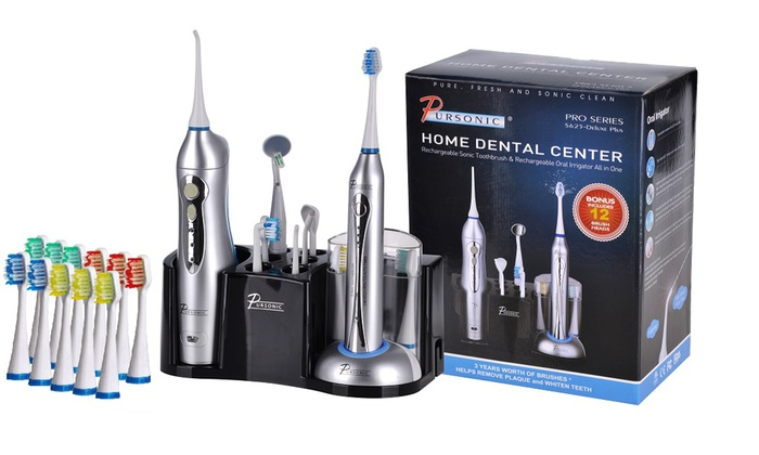 Pursonic Rechargeable Sonic Toothbrush and Oral Irrigator Bundle: Pursonic Rechargeable Sonic Toothbrush and Rechargeable Oral Irrigator Bundle
