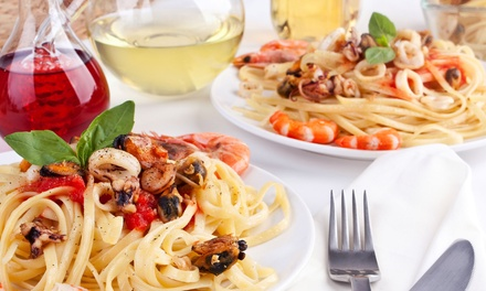 Italian Food and Drinks for Lunch or Dinner at LaCucina Restaurant (50% Off). Three Options Available.