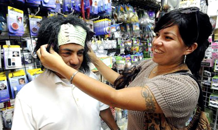 The Fun Corner - Perris Hills: Costumes, Costume Accessories, Props, Wigs, and Halloween Decor at The Fun Corner (Half Off). Two Options Available.