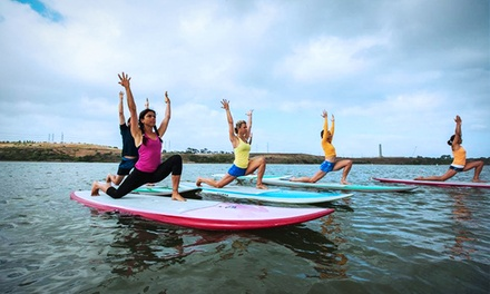 One or Three SUP Yoga Classes at Floating Yogis (Up to 54% Off)