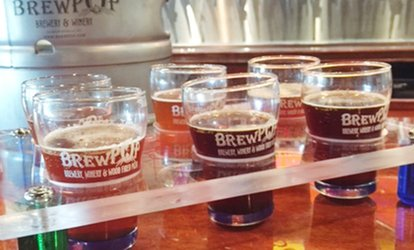 image for Beer Flights for Two at Brewpop Brewery (Up to 57% Off)