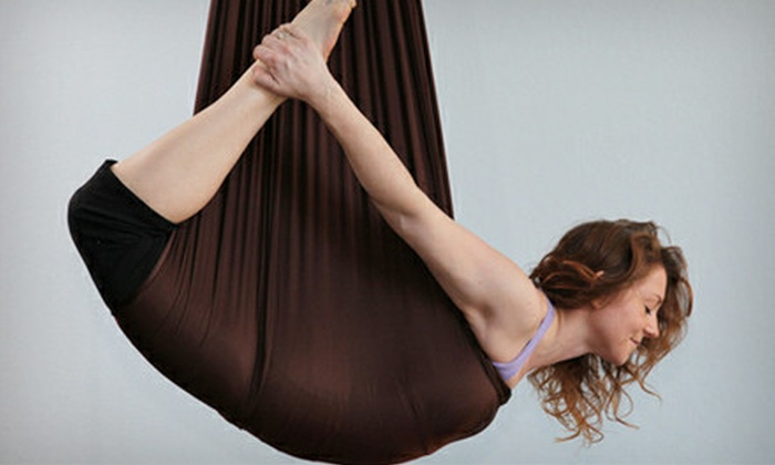 The Yoga Studio - Campbell: 5 Aerial Yoga Classes, 10 Non-Aerial Yoga Classes, or 1 Month of Non-Aerial Yoga Classes at Yoga Studio (Up to 74% Off)