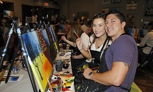3-Hour Paint-and-Sip Social Painting Event at CANVAS! paint.sip.studio ($45 Value)