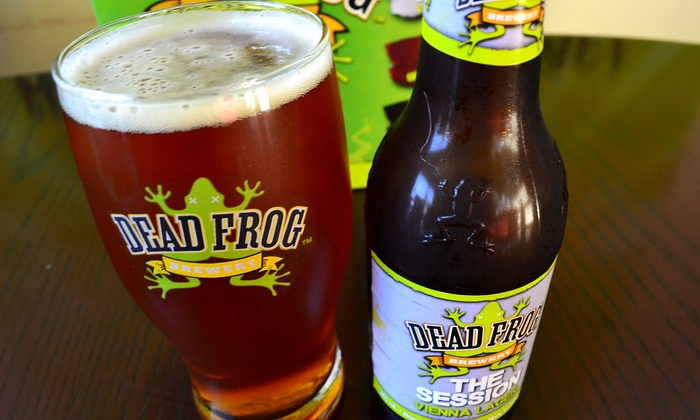 Dead Frog Brewery - Langley: Brewery-Tour Package with Samples, Pint Glass, and Coasters for One, Two, or Four (Up to 55% Off)