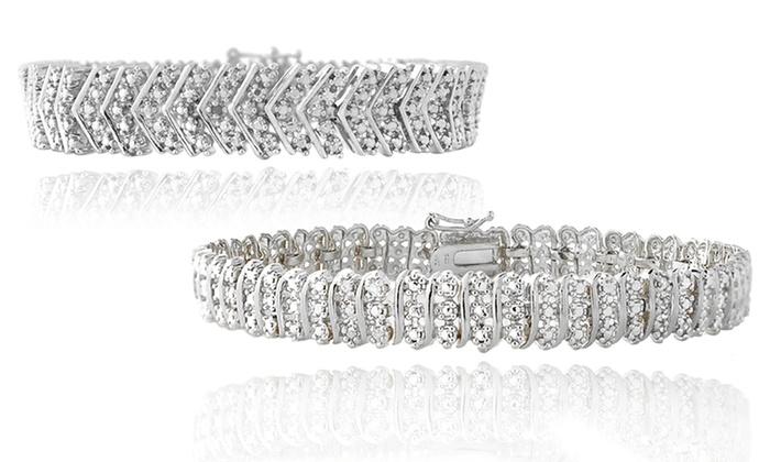 1.00 CTTW Diamond Bracelets: 1.00 CTTW Diamond Bracelets