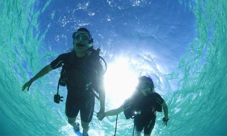Bautismo de buceo y/o curso PADI con todo el material y opción a 2 inmersiones desde 29 € en Mediterrean Dive Center