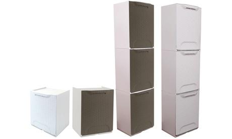 Image of Set di 1 o 3 cassetti multiuso Rattan Art Plast disponibili in 2 colori