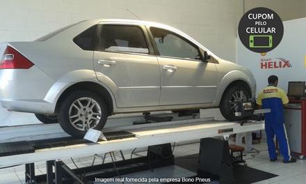Bono Pneus – Portão: alinhamento, balanceamento, rodízio de pneus e revisão de suspensão e freios (opção: troca de óleo)