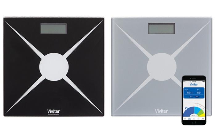Bathroom App vivitar bluetooth digital bathroom scale with smartphone app | groupon