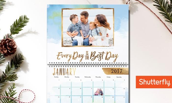 Shutterfly Custom Wall Calendar Shutterfly Groupon