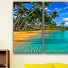"Beautiful Destinations 36""x24"" Three-Panel Canvases"