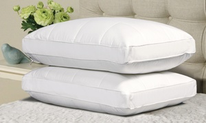 2-pack Of Quilted Feather Down Pillows