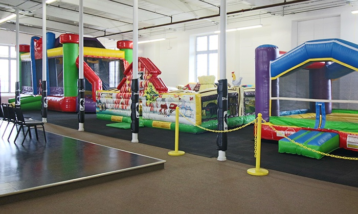 Lazer Gate - Fall River: Two, Four, or Six Passes to the Landing Zone Indoor Bounce Arena at Lazer Gate (50% Off)