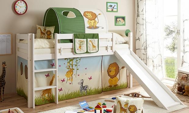 Lit sur lev pour enfant avec accessoires groupon shopping - Lit sureleve pour enfant ...